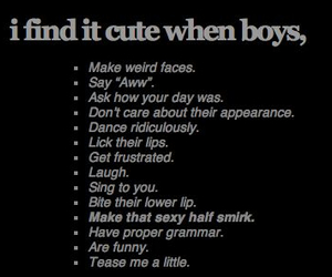 boy, cute, and text image