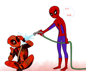 deadpool, spiderman, and spideypool image