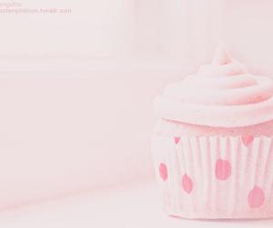pink, cupcake, and pastel image