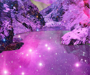 pink and galaxy image