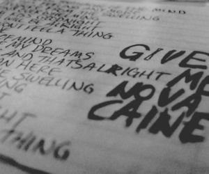 green day, give me novacaine, and Lyrics image