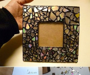 diy, mirror, and frame image