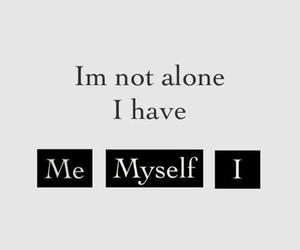 me, myself, and alone image