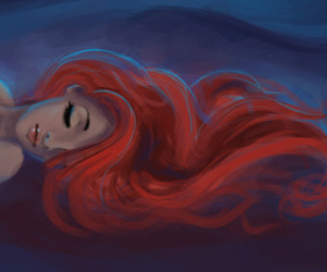 ariel, disney, and red image