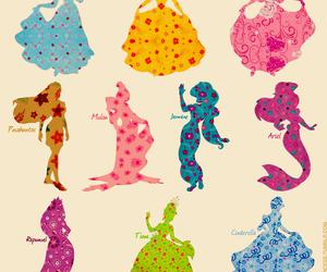colorful, princess, and princesses image