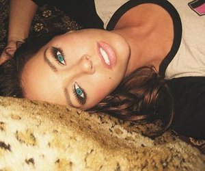 girl, blue eyes, and eyes image