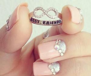 bff, fingers, and nail polish image