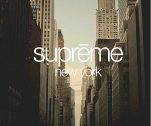 supreme, city, and new york image