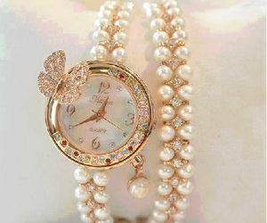 watch, pearls, and accessories image