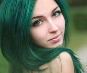 green hair, forest fairy, and pastel hair image