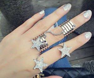fashion, rings, and stars image
