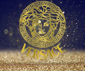 catwalk, glitter, and Versace image
