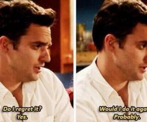 quote, funny, and new girl image