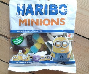 food, haribo, and minions image
