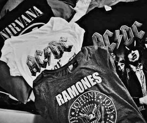 nirvana, ramones, and ac dc image