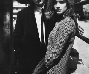 black and white, Natalia Vodianova, and model image
