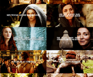 game of thrones, sansa stark, and catelyn tully image