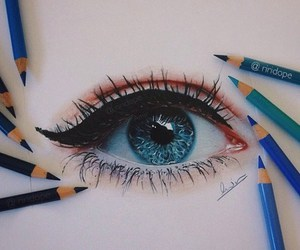 eye, art, and drawing image