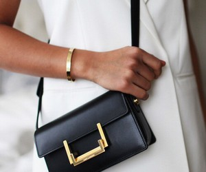 bag, gold, and brackelet image