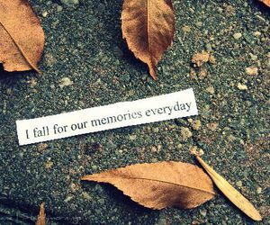 memories, fall, and leaves image