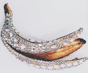 banana, diamond, and fruit image