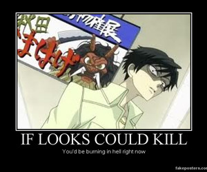 scary, kyoya, and ouran hig school image