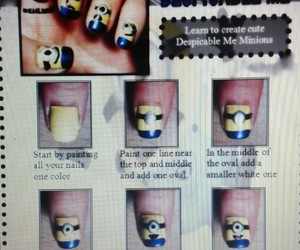 diy, minions, and nail polish image
