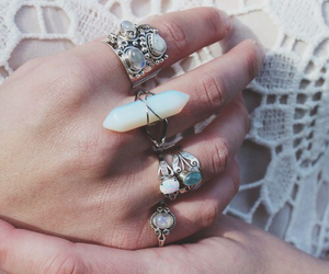 fashion, pale, and rings image