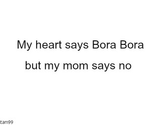 bora bora, heart, and mom image