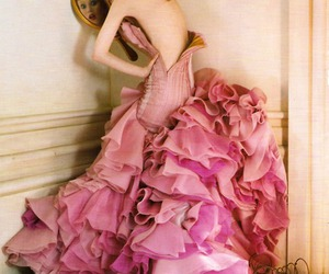 pink, dress, and mirror image
