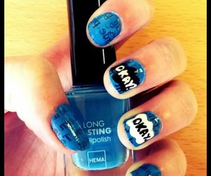 blue, nail art, and shailene woodly image