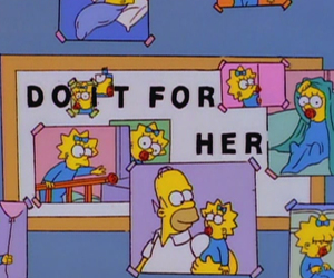 simpsons, homer, and Maggie image