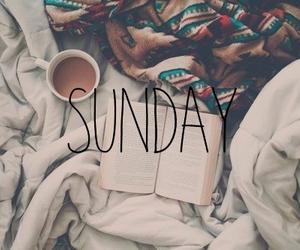 Sunday, book, and coffee image