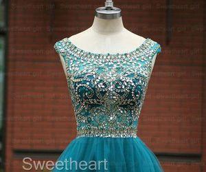 beautiful, blue, and dress image