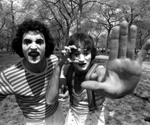black and white, mime, and robin williams image