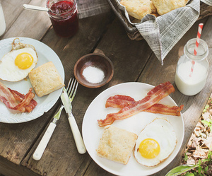breakfast, food, and bacon image