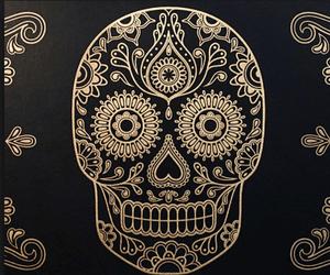 dia de los muertos and caveira image