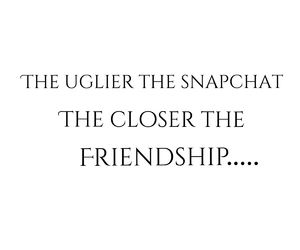 friendship, ugly, and snapchat image