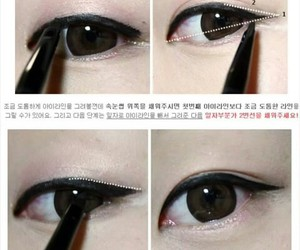 eyeliner, eyes, and korean image