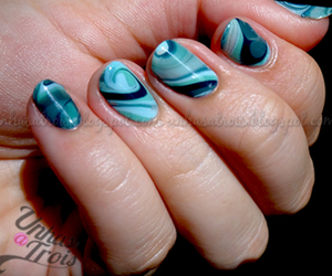 blue, marble, and nails image