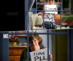 pll, love, and pretty little liars image