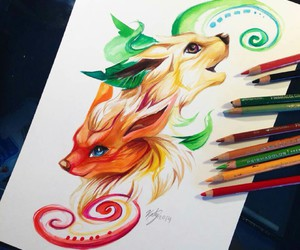 animal, art, and colors image
