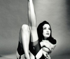 black and white, burlesque, and fetish image