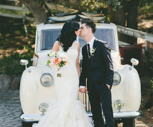 wedding, brendon urie, and couple image