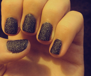 black, manicure, and my image