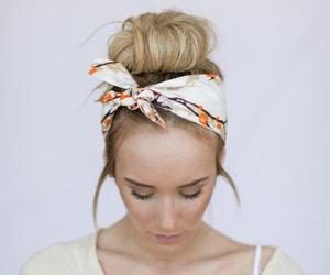 fashion, bandana, and hair image
