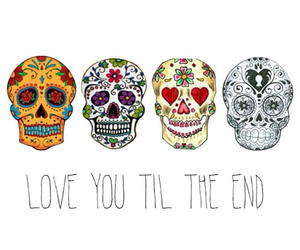love, skull, and end image