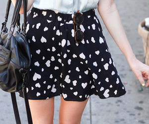 fashion, skirt, and hearts image
