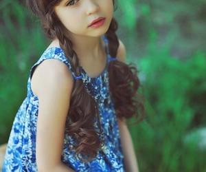 girl, child, and brunette image