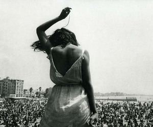 black and white, festival, and woman image